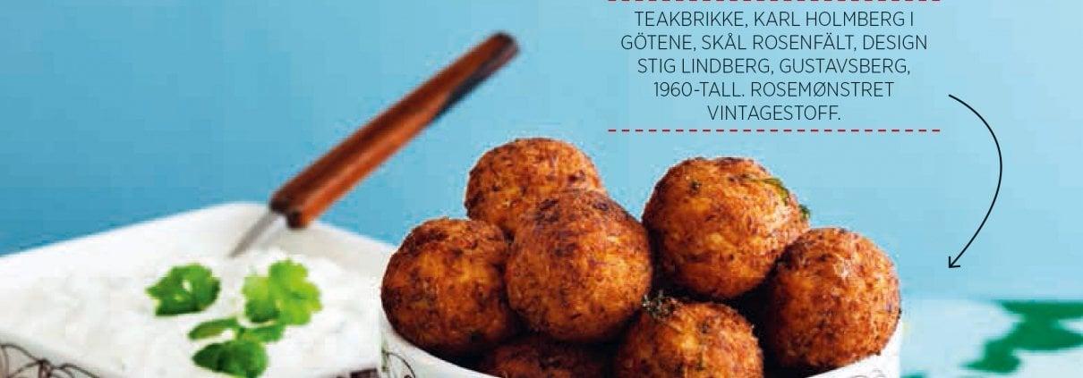 Deilge frityrstekte, Indiske blomkålboller. Fra boken Mer matglede med lavkarbo gitt ut på Forlaget Lille Måne