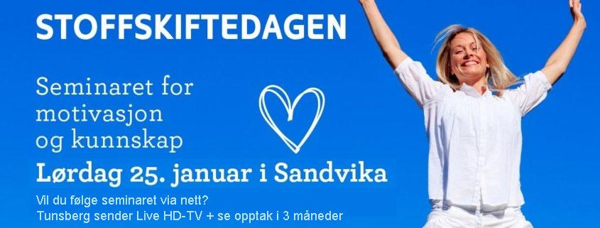 tunmed.no viser Stoffskiftedagen for deg som ikke kan komme til Sandvika!